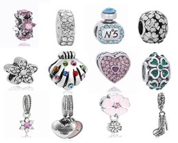 Wholesale Pandora Bead Bracelet Snake Chain - Hot Selling Best Quality Silver 12pcs Mix Pandora European Charms Beads Fit Snake safety chain DIY Charm Bracelet Jewelry Xmas