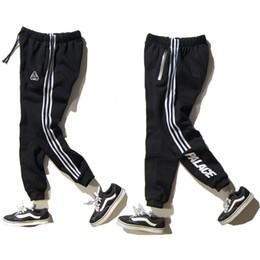 Wholesale Cotton Polyester Pants Men - PALACE Skateboard Full Length Pants Men Women Fashion Brand Clothing Reflective Zipper Cotton Warm Hip Hop Palace Trousers Homme