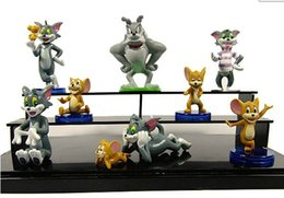 Wholesale Tom Jerry Figures Toy - Cute Cartoon Tom and Jerry PVC Action Figure Model Toys Dolls 9pcs set Classic Toys