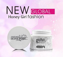 Wholesale Gel Uv Led Clear - Hot Item Honeygirl gelish LED UV Gel Polish Soak off Builder gel Structure gel Foundation Nail Gel Pink Clear White Nail Art