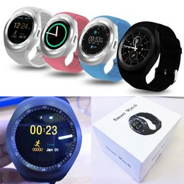 Wholesale Watch Mobile Phone Free Shipping - Free Shipping Original quality Y1 Smart Watch Round Wrisbrand Android use 2G SIM card Intelligent mobile phone Smartwatch