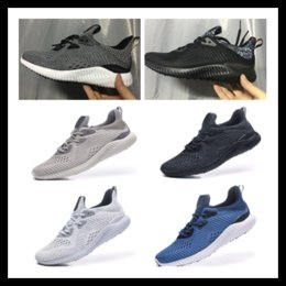 Wholesale Rubber Bounce Shoes - Men Alpha bounce EM Running Shoe 2017 new Men Casual Training Sneakers Cheap Discount Running Alphabounce Alpha Bounce Tan PK Primeknit shoe