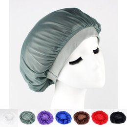 Wholesale Wholesale Summer Hats For Women - Satin hair Bonnet cap Sleeping Cap Hat for women hair wrap Skullies and Beanies Sleep Caps free shipping