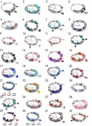 Wholesale Dark Red European Beads - 215 style 2016 Charms 925 Sterling Silver Bracelets Glass&Crystal European Charm Beads Fits Charm diy bracelets Style Bracelets Dark Blue