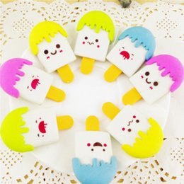 Wholesale Ice Cream Gifts Kids - Wholesale-1 x kawaii Ice Cream Doll rubber eraser creative stationery office school supplies papelaria gift for kids