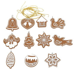 Wholesale Christmas Hanging Outdoor Snowflakes - New 11 pcs lot Hanging Ornament Snowflakes Decor Polymer Clay Drop Pendants Christmas Tree Baubles Decoration Enfeites Ornaments Set