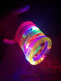 Wholesale Luminous Wristbands - Multicolor Arylic Flash Led Bracelet Light up wristband Luminous props for Holloween Christmas New Year Ball Party Masquerade Performace Bar