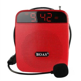 Wholesale Teaching Microphone Speaker - 2015 new arrive BOAS teaching microphone special amplifier for tours guide external voice lound speaker support U disk TF card