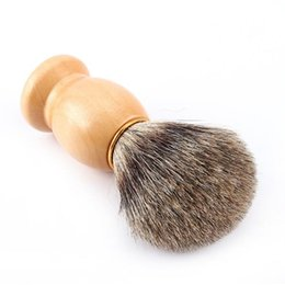 Wholesale Mustache Brush - Portable Badger Hair Bristle Shaving Brush Mustache Brushes Resin Handle Face Barber Beauty Tool Men's Gift Razor brushes