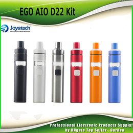 Wholesale Mouthpiece Black - Authentic Joyetech eGo AIO D22 Kit 1500mAh D22 Battery Spiral Structure Mouthpiece 2ml Adjustable AirFlow All-In-ONE 100% genuine 2220041