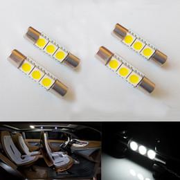 20pcs 29mm 3SMD LED Fuse Car Vanity Mirror Light Sun Visor Bulb White Practical