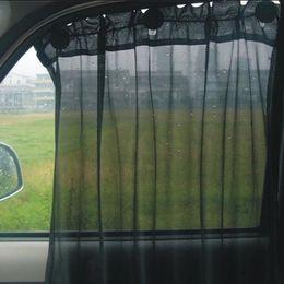 Wholesale Car Side Curtains - Wholesale- 2016 Hot Black Grey Brown Car Sun Shade Side Window Curtain Auto Interior UV Protection Mesh Fabric
