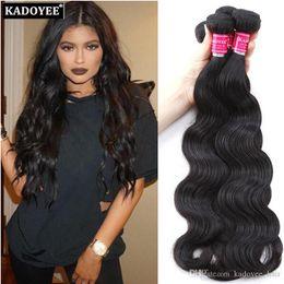 Remi pelo tejido peruano online-8A Brasileño Body Wave Virgin Hair Extensions 3 Bundles para Full Head Peruvian Body Wave Sin procesar Remi Armadura del pelo humano Envío Gratis