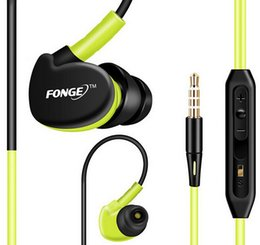 Wholesale Waterproof Ear Phone Hooks - Sport Headphones Waterproof Earphones Running Sweatproof Stereo Bass Music Headset With Mic For All Mobile Phone 4 color