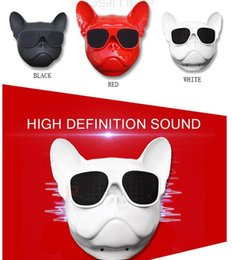 Wholesale Usb Boombox Player - Bulldog Portable Bluetooth Speakers Wireless MP3 Palyer Dog Speaker Mini Audio Boombox for iphone xiaomi Computer Cellphone Gift