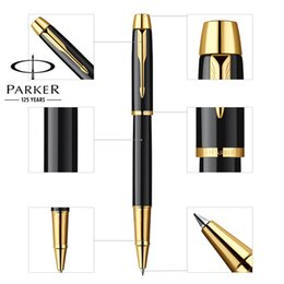 Stylos de bureau en Ligne-Plein métal PARKER IM stylo à bille Business Executive rollerball stylos comme cadeau de luxe Bureau écriture papeterie