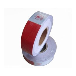 Wholesale Hazard Warning - car accessories ZATOOTO 45m Red White Reflective Adhesive Hazard Warning Tape Caution Safety Conspicuity Tape Car Accessories