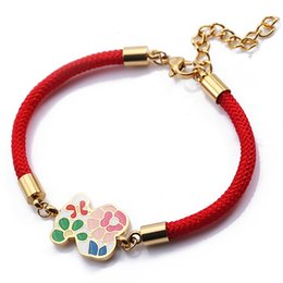 Wholesale Cute Lobsters - 2017 Stainless Steel Bear Charm Bracelet 2 Colours Classic Style Gift Cute 316L Never Fade Fashion