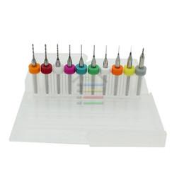 "Wholesale Cnc Micro Engraving - Free shipping New 10pcs Set 1 8""Shank 0.1mm - 1mm Carbide PCB Dremel Jewelry CNC Engraving Micro Twist Drill Bits Set order<$18no track"
