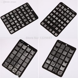Wholesale Stamping Device Nail Art Plate - Wholesale-4pcs Nail Art Image Plate Stamping Plates Manicure Template Device Polish Stamp Plate #GH22