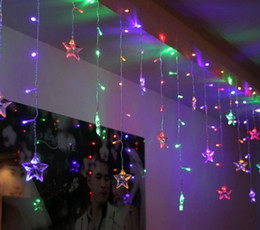 Wholesale Green Modeling - 4M Ice led string light New year indoor lighting garland star modeling led luminarias christmas decoration 100SMD 18 Stars