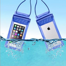 Wholesale Chinese Waterproof Phone - CuteTransparent PVC Touch screen smart phone underwater waterproof phone bag for iphone 7 7plus 6 6s plus 5 SE DHL shipping