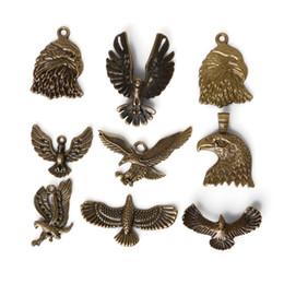 Wholesale Eagle Charm Antique - Free shipping New 23pcs lot Zinc Alloy Antique Bronze Plated Eagle Charms Vintage Tibetan Pendants DIY Bracelet Necklace jewelry making DIY