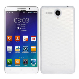 Wholesale Lenovo 8gb Rom Phone - Lenovo A5800D 5.5 inch Quad Core Phone 1G RAM 8G ROM 5.0MP Camera Android 4.4 Unlocked Cell Phones