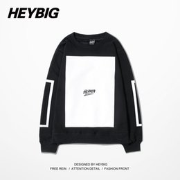 Wholesale China Winter Fashion - Wholesale-Heaven Blank Man Crewneck Hoodie HBA HOOD BY AIR Sports Pullovers Running Tracksuits Winter Warm Fleece Sweatshirts China Size