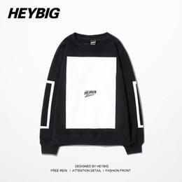 Wholesale China Sweatshirts - Wholesale-Heaven Blank Man Crewneck Hoodie HBA HOOD BY AIR Sports Pullovers Running Tracksuits Winter Warm Fleece Sweatshirts China Size