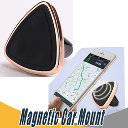 Wholesale Step Boxes - Magnetic Car Mount Universal Air Vent Car Phone Holder for iPhone 6 6s One Step Mounting Reinforced Magnet with retail box