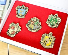 Wholesale Brooches Low Price - Free Shipping+Children's Harry Potter College Metal Badges Harry Potter Brooch Birthday Gift with good quality and low price