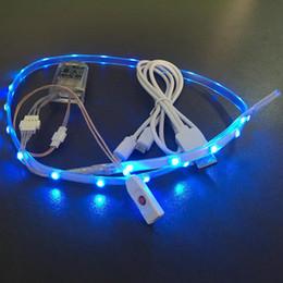 sandales usb Promotion Nouvelle conception de l'été 3528 RGB LED bande flash usb semelles de charge Sandales fasion chaussure lumière usb charge led bande