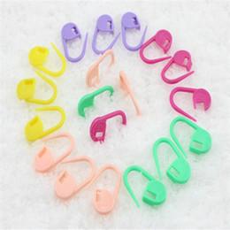 Wholesale Locking Stitch Markers Clips - 100Set Plastic Markers Holder Needle Clip Craft Mix Colors Mini Knitting Crochet Locking Stitch Free Shipping Wholesale