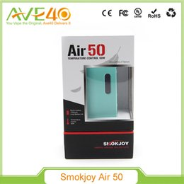 Wholesale Vw Air - Original Smokjoy Air 50W TC VW Box Mod Tiny Size with 1200mah Built-In Battery 7W-50W VV Mod Black Silver Tiffany Blue