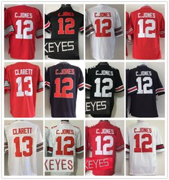 Wholesale Maurice White - Men Short Sport Jersey White Red Black Ohio State Buckeyes 12 Cardale Jones 13 Maurice Clarett Embroidery Stitching Name Number