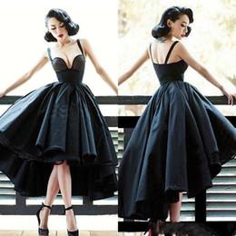 Abiti da cocktail sexy con spalle scoperte e abiti da cocktail per la sera cheap short front black evening dresses da abiti da sera neri corti nero fornitori