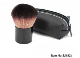 Wholesale 182 Brushes - 10pcs HOT Makeup 182# rouge brush \blusher brush+Leather bag gift D913