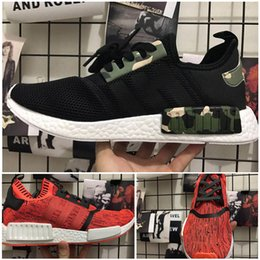 Wholesale Fabric Apples - 2017 High Quality NMD R1 NYC RED APPLE Men Running Shoes Fashion Running Sneakers for Men and Women mastermind japan MMJ Size 36-44