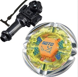 Wholesale Gyro Spinning Top - Sale Flame SAGITTARIO C145S Fusion 4D Beyblade toys BB-35 Metal Fury Beyblade-Launchers gyro plastic spinning top
