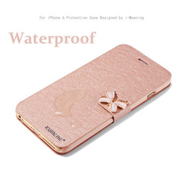 "Wholesale Crystal Bowknot Iphone - Luxury Crystal bow-knot Leather Wallet Card Holder Flip Stand Case Cover For iphone 6 6S 4.7"" iphone 6S 6plus 5.5"" bowknot"