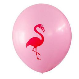 Wholesale Latex Ballon Wholesaler - Hot 12Inch Pink Flamingo Party Balloons Latex Inflatable Ballon Christmas Tropical Party Supplies Wedding Decoration