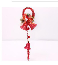 Wholesale Snowman Ornaments Sale - Hot Sale Christmas Bells 60cm Circular Christmas Snowman Pendant Wholesale Hanging Decoration For Home Navidad New Year Free Shipping