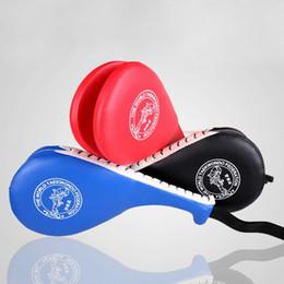 Wholesale Target Practice Kicking - Wholesale-Boxing Pear Speed Bag Punching Single Taekwondo Tae Kwon Do Kick Pad Practice Target Kickboxing Training Pads Red black blue