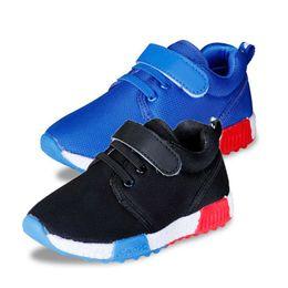 Wholesale Children Shoes Rubber Bottoms - 2016 Fashion Boys Girls Casual Mesh Shoes Kids Solid Ventilation Soft Bottom Children School Shoe Free Shipping
