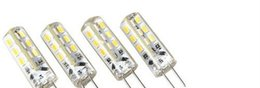 Wholesale G4 Led 12v 4w - SMD 3014 LED G4 12V 3W 4W 5W 7W 9W AC 110v 220V Crystal Silicone Candle Corn Droplight Chandelier LED Spot lamp