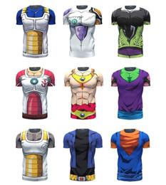 Wholesale Dragon Ball Vegeta - Dragon Ball Z Vegeta Resurrection F Armour T Shirts Women Men Anime Super Saiyan Goku Majin Buu Piccolo Cell DBZ T shirt 3D Tees