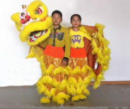 Wholesale lion mascot costumes adults - children new Lion Dance mascot Costume made of pure wool Southern Lion Adult size chinese Folk costume