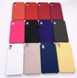 Wholesale Red Apple Sale - For iPhone 8 silicone case original style Liquid Silicon rubber Cases with retail boxes For iphone x for iPhone 8 Plus 4 6 7 plus 10 sale