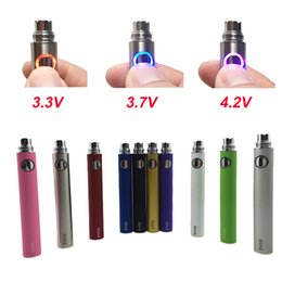 Wholesale Ego Twist Voltage - Wholesale EVOD Variable Voltage battery 650mAh 900mAh 1100mAh evod twist eGo ecig batteries for MT3 CE4 CE5 atomizer